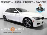 2015 BMW 3 Series 335i *M SPORT, M PERFORMANCE POWER KIT, HEADS-UP DISPLAY, NAVIGATION, BACKUP-CAM, HARMAN/KARDON, BLUETOOTH
