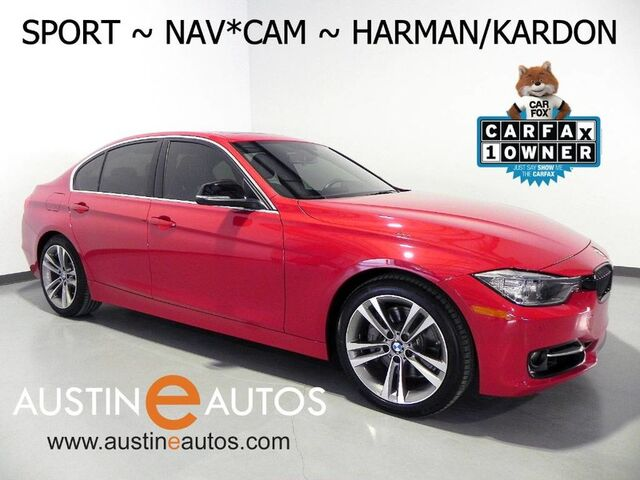 2015 BMW 3 Series 335i *SPORT LINE, NAVIGATION, BACKUP-CAMERA, HARMAN/KARDON, LEATHER, HEATED SEATS, MOONROOF, COMFORT ACCESS, BLUETOOTH Round Rock TX