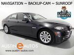 2015 BMW 5 Series 528i *NAVIGATION, BACKUP-CAMERA, MOONROOF, DAKOTA LEATHER, HEATED SEATS, BLUETOOTH PHONE & AUDIO