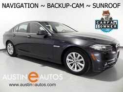 2015_BMW_5 Series 528i_*NAVIGATION, BACKUP-CAMERA, MOONROOF, DAKOTA LEATHER, HEATED SEATS, BLUETOOTH PHONE & AUDIO_ Round Rock TX