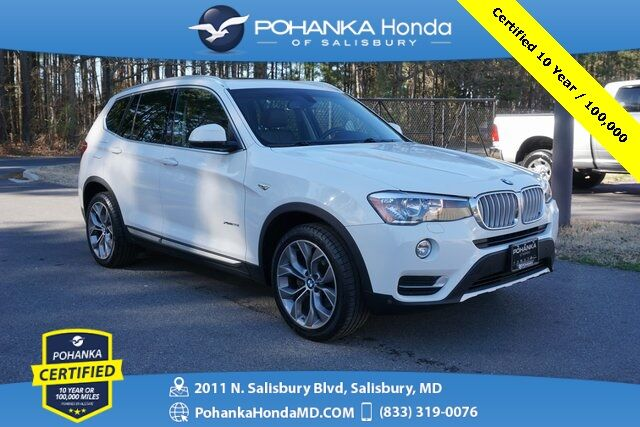 2015 BMW X3 xDrive28i AWD ** Pohanka Certified 10 Year / 100,000  ** Salisbury MD