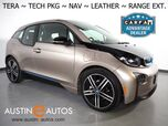 2015 BMW i3 Tera Wolrd w/Range Extender *NAVIGATION, DRIVING ASSISTANT, ADAPTIVE CRUISE, LEATHER, HEATED SEATS, COMFORT ACCESS, 20 INCH ALLOYS, BLUETOOTH PHONE & AUDIO