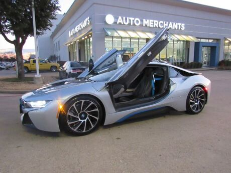 2015 BMW i8 Base ELECTRIC, AUTOMATIC, HEADS UP DISPLAY, BUTTERFLY DOORS, 360 CAMERA, PEDESTRIAN ASSIST, LEATHER Plano TX