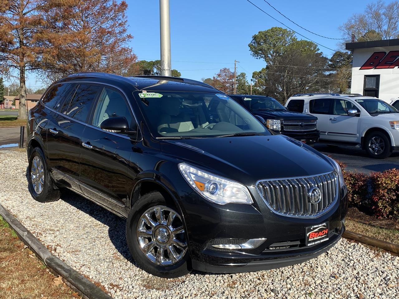2015 BUICK ENCLAVE WARRANTY, LEATHER, SUNROOF, HEATED SEATS, 3RD ROW, BACKUP CAM, PARKING SENSORS, CLEAN CARFAX! Norfolk VA