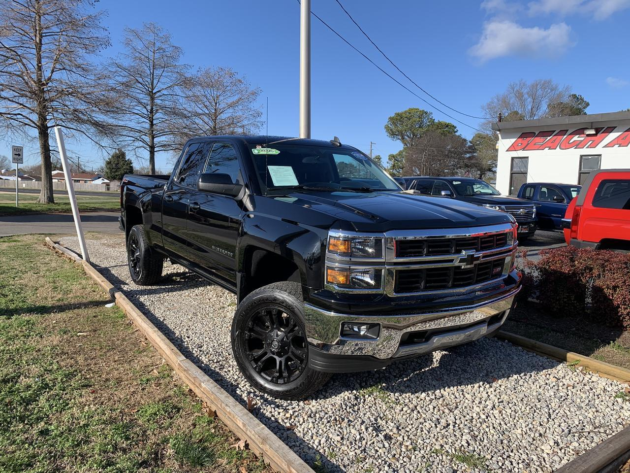 2015 CHEVROLET SILVERADO 1500 LT Z-71 OFF ROAD DOUBLE CAB 4X4, WARRANTY, BLUETOOTH, AUX/USB PORT, CLEAN CARFAX! Norfolk VA