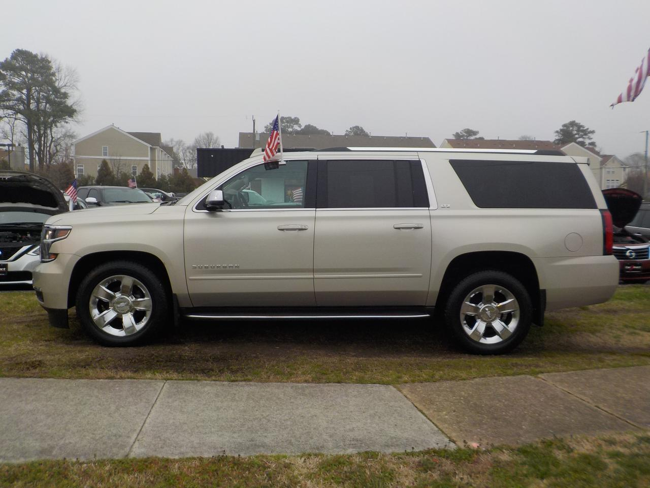 2015 CHEVROLET SUBURBAN LTZ 4X4, WARRANTY, LOADED, CARFAX ONE OWNER, DVD, REMOTE START, TOW, 3RD ROW, NAVIGATION, ROOF RACKS Virginia Beach VA
