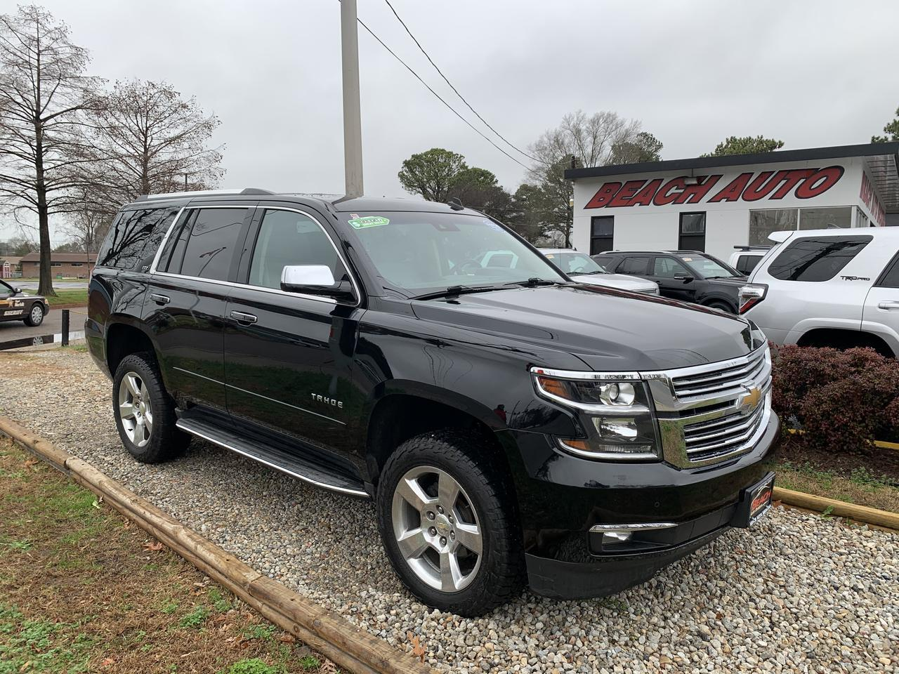 2015 CHEVROLET TAHOE LTZ 4X4, WARRANTY, LEATHER, SUNROOF, NAV, BLUETOOTH, ONSTAR, 3RD ROW, CAPTAINS CHAIRS, BACKUP CAM! Norfolk VA
