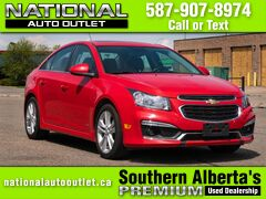 2015 Chevrolet Cruze 2LT - HEATED LEATHER - SUN ROOF - LOW KLM,S