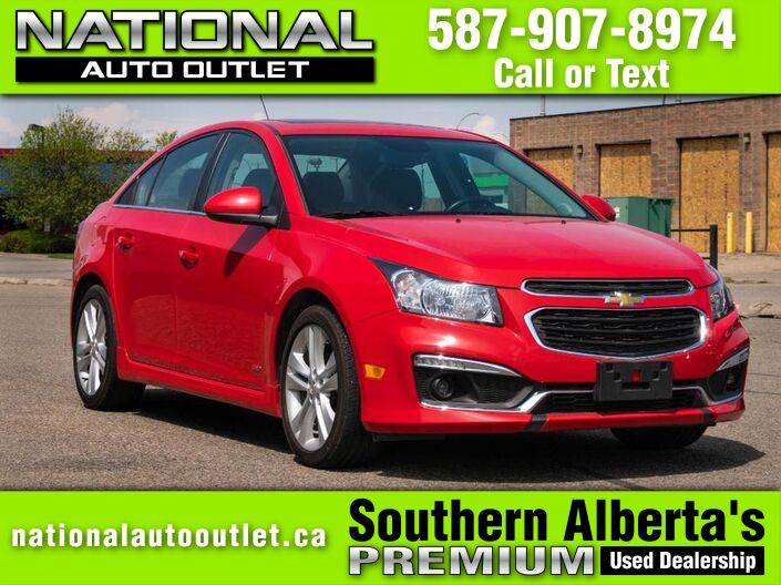 2015 Chevrolet Cruze 2LT - HEATED LEATHER - SUN ROOF - LOW KLM,S Lethbridge AB