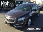 2015 Chevrolet Cruze 2LT No Accidents! Leather Interior, Push-Button Start, Backup Camera!