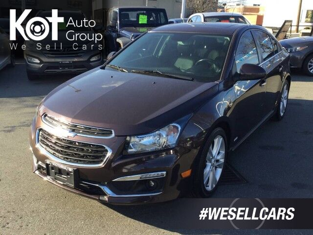 2015 Chevrolet Cruze 2LT No Accidents! Leather Interior, Push-Button Start, Backup Camera! Kelowna BC
