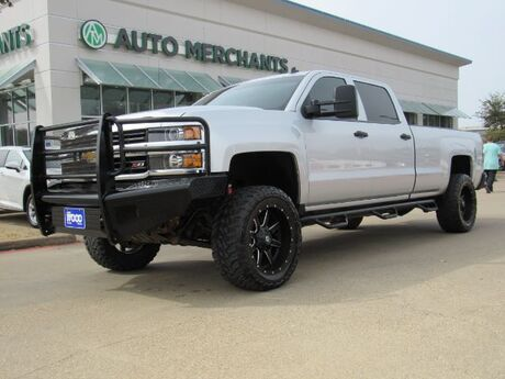 2015 Chevrolet Silverado 2500HD LT Crew Cab 4WD LEATHER, BACK UP CAMERA, REPLACEMENT FRONT BUMPER , LEVELING KIT, RUNNING BOARDS Plano TX