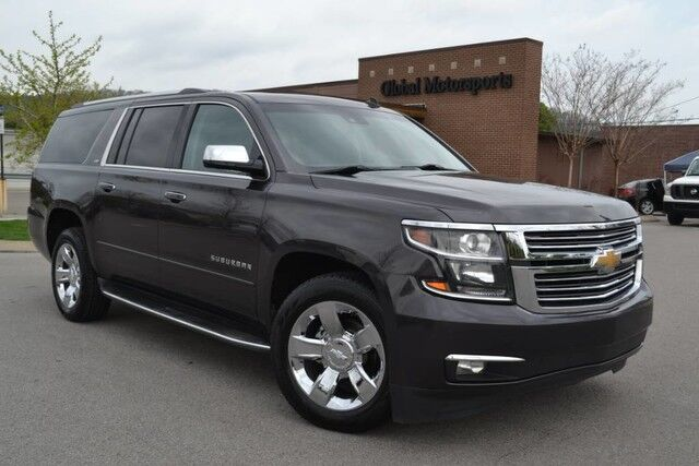 2015 Chevrolet Suburban LTZ/Head Up Display/Dual DVD Entertainment/Middle Row Captains/Blind Spot Monitor/Lane Departure Warning/Nav/Rear Cam/Heated&Cooled Seats/Sunroof Nashville TN