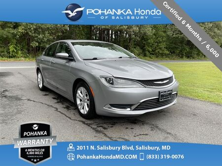 2015_Chrysler_200_Limited Only 38,337 Low Miles ** Certified 6 Month / 6,000_ Salisbury MD