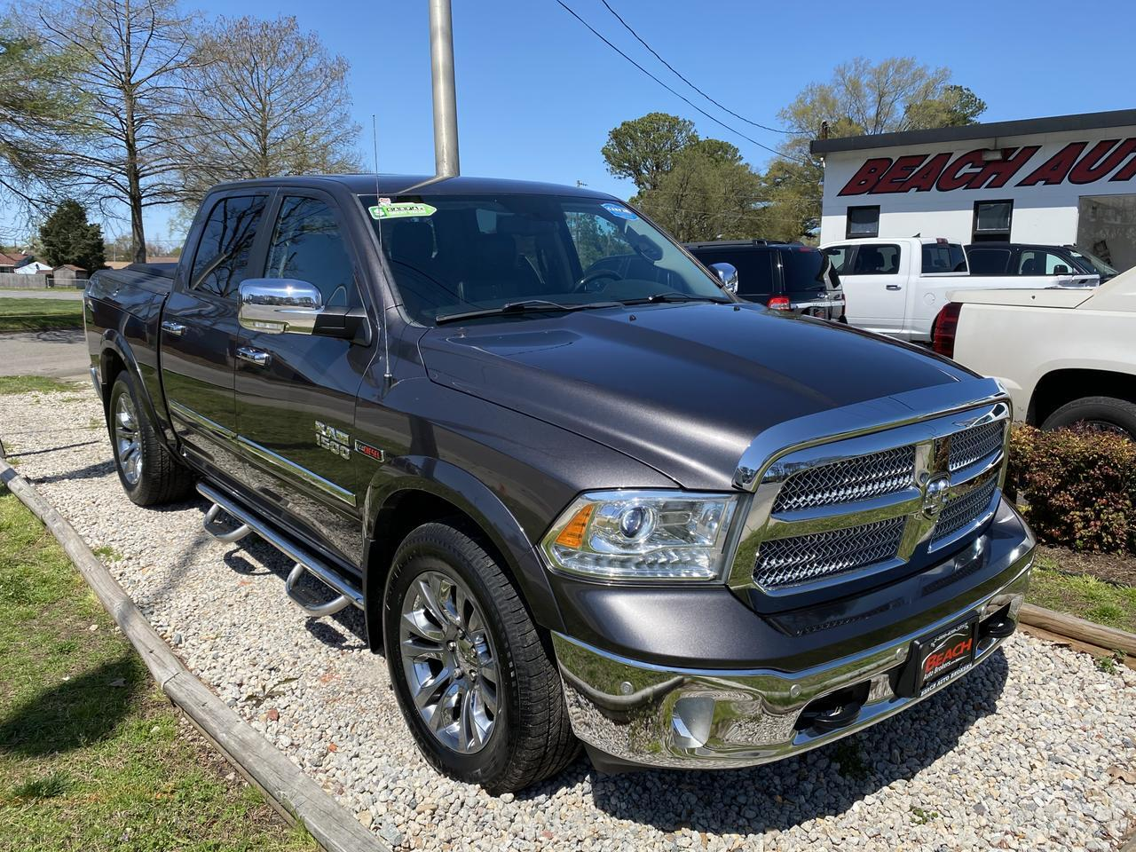 2015 DODGE RAM 1500 LARAMIE LIMITED CREW CAB 4X4, WARRANTY, ECODIESEL, LEATHER, BACKUP CAM, PARKING SENSORS, CLEAN! Norfolk VA