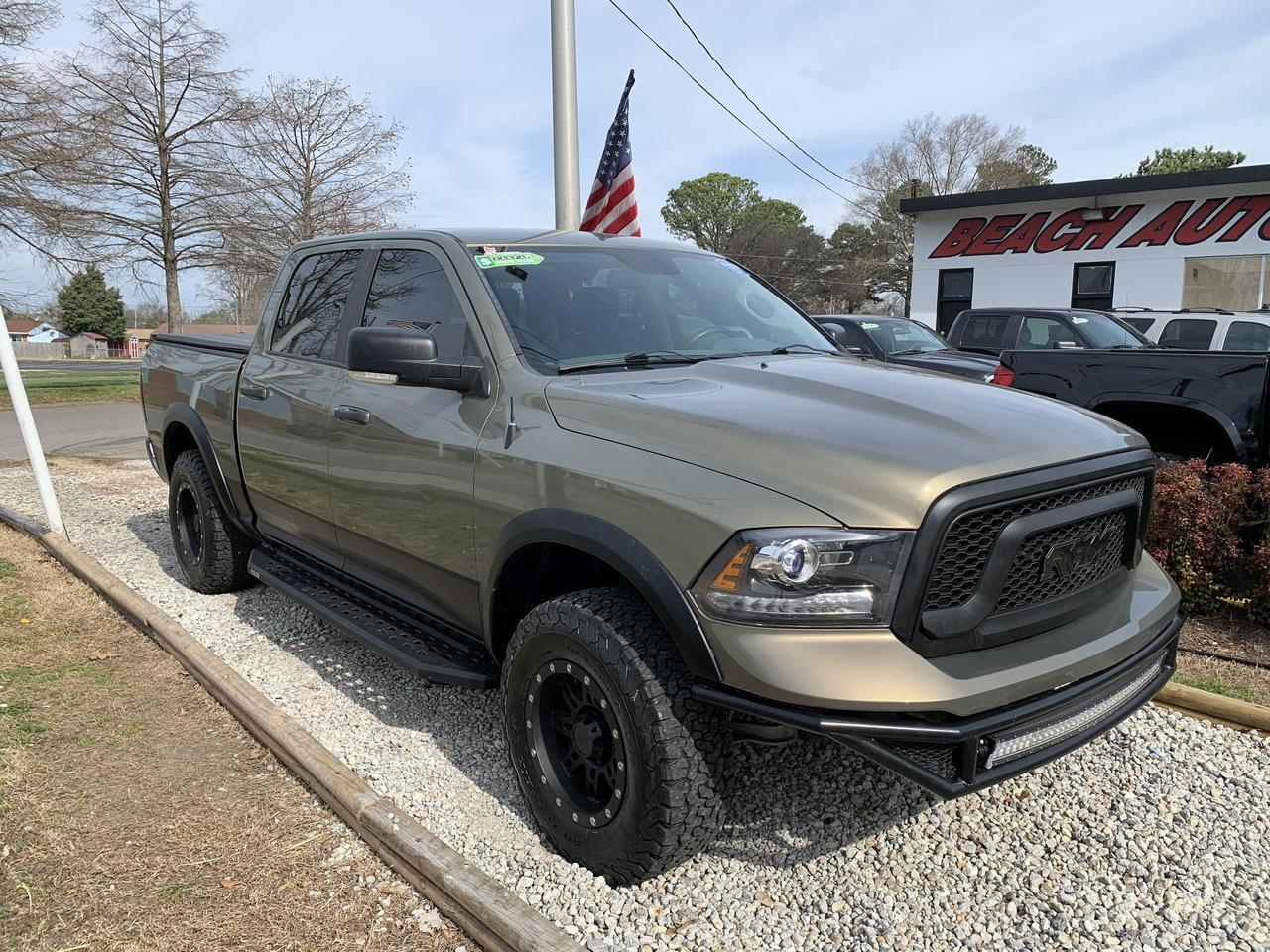 2015 DODGE RAM 1500 SLT CREW CAB 4X4, WARRANTY, HEATED SEATS, ONSTAR NAV, BLUETOOTH, ONSTAR, BACKUP CAM, BLUETOOTH! Norfolk VA