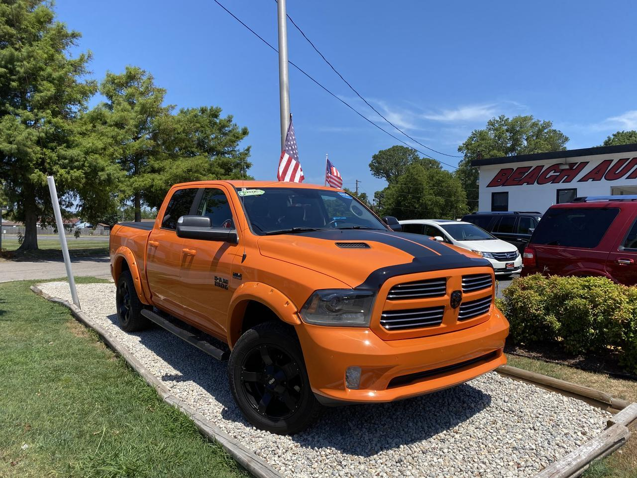 2015 DODGE RAM SPORT CREW CAB 4X4, WARRANTY, LEATHER, NAV, HEATED SEATS, SUNROOF, CLEAN CARFAX! Norfolk VA