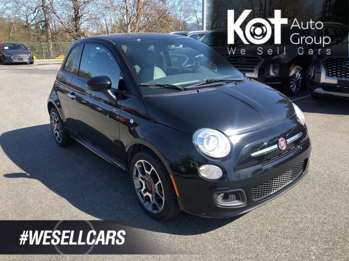 2015 FIAT 500 SPORT! MANUAL! LEATHER! FUN TO DRIVE! Penticton BC