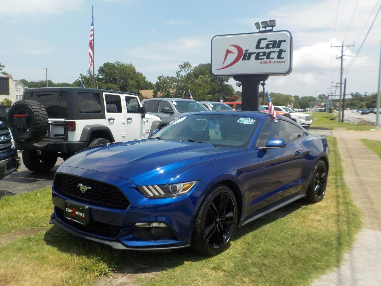 2015 FORD MUSTANG FASTBACK ECOBOOST PREMIUM, HEATED & COOLED SEATS, NAVI, BACKUP CAM, BLUETOOTH, KEYLESS START!