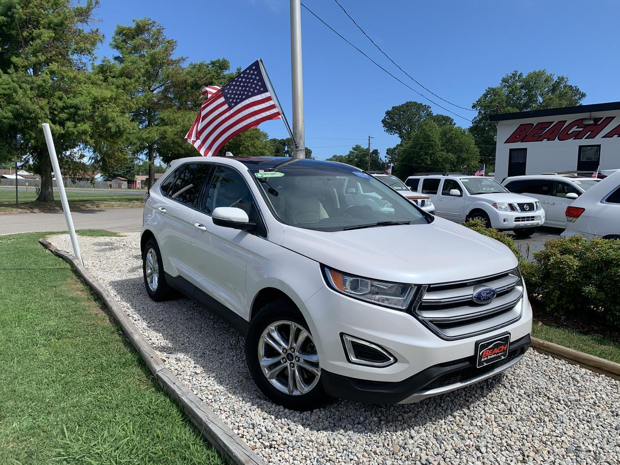 2015 FORD EDGE SEL, WARRANTY, LEATHER, PANORAMIC SUNROOF, HEATED SEATS, BACKUP CAM, BLUETOOTH, 1 OWNER! Norfolk VA