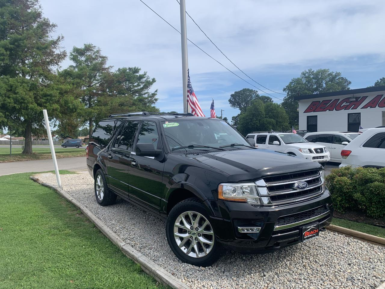 2015 FORD EXPEDITION EL LIMITED 4X4, WARRANTY, LEATHER, SUNROOF, NAV, 3RD ROW, HEATED SEATS, CLEAN CARFAX! Norfolk VA