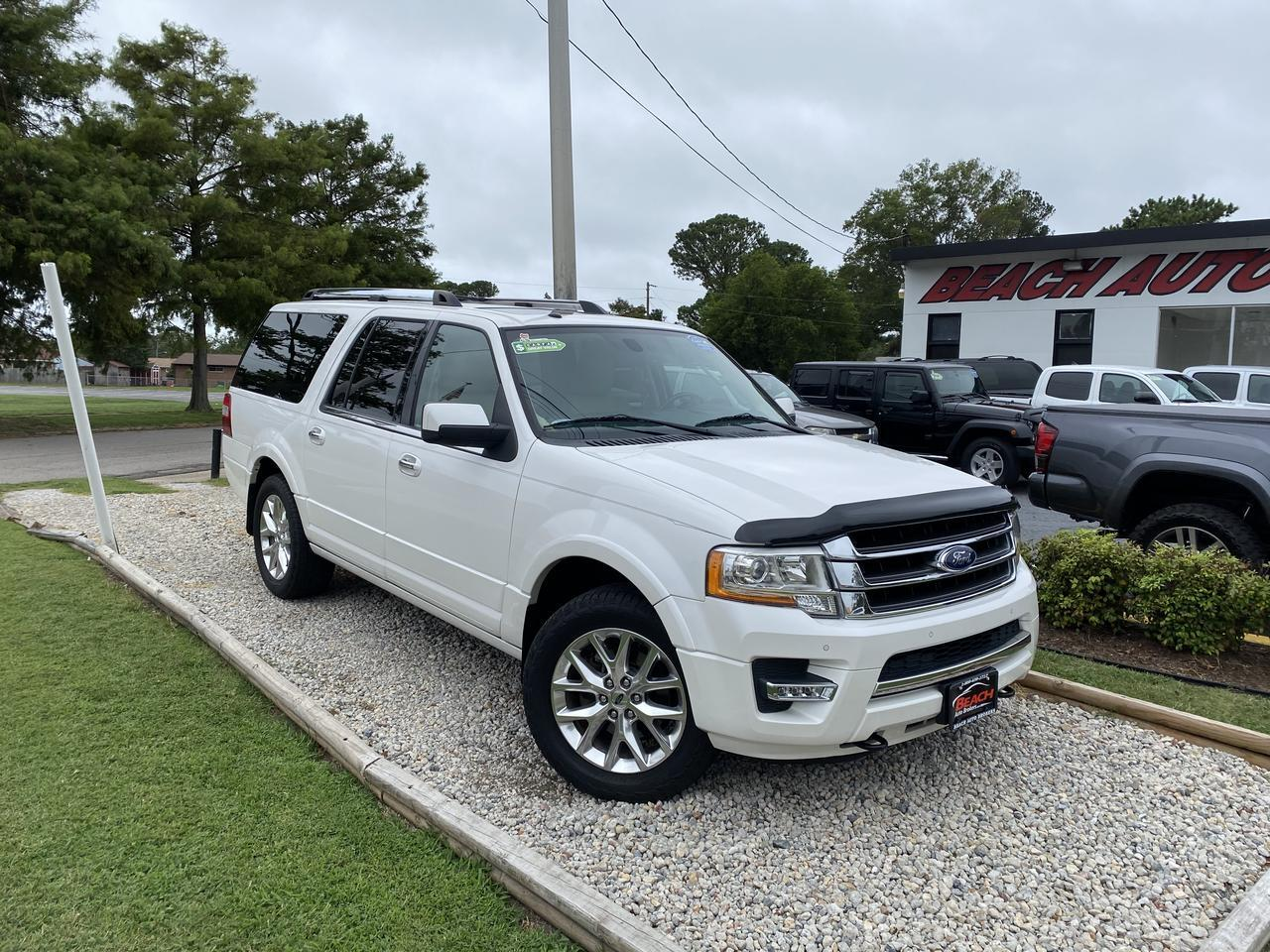 2015 FORD EXPEDITION LIMITED 4X4, WARRANTY, LEATHER, SUNROOF, NAV, HEATED/COOLED SEATS, 3RD ROW, LOW MILES! Norfolk VA