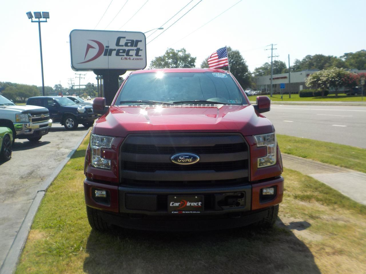 2015 FORD F-150 LARIAT SUPERCREW 4X4, HEATED & COOLED SEATING, NAVIGATION, TOW, RUNNING BOARDS, POWER FOLDING MIRROR Virginia Beach VA