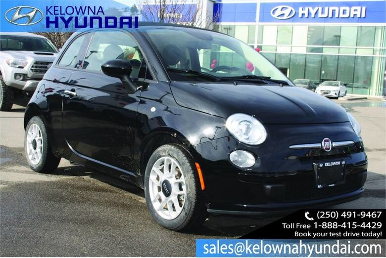 2015 Fiat 500c Pop Convertible Manual, Low kms Kelowna BC