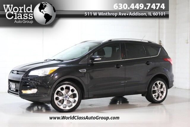 2015 Ford Escape Titanium - AWD FULLY LOADED POWER HEATED LEATHER SEATS NAVIGATION BACKUP CAMERA BLUETOOTH AUDIO KEYLESS ENTRY PUSH BUTTON START PANO ROOF WITH SUNSHADE SONY AUDIO Chicago IL