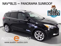2015_Ford_Escape Titanium Ecoboost_*NAVIGATION, BACKUP-CAMERA, PANORAMA SUNROOF, LEATHER, HEATED SEATS, SONY AUDIO, BLUETOOTH_ Round Rock TX