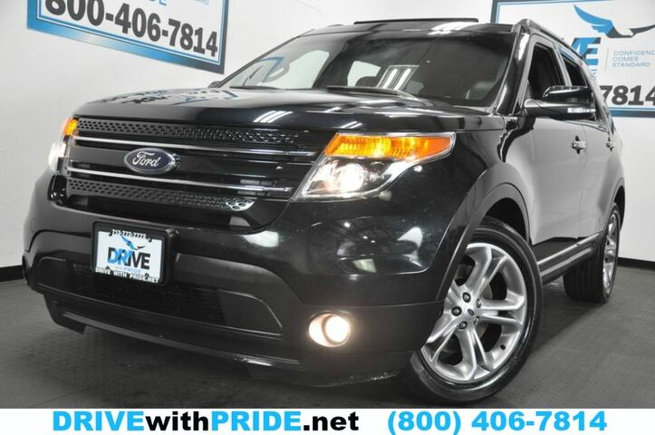2015 Ford Explorer LIMITED 74K 1 OWN REMOTE START NAV REAR CAM HEATED STS 3RD ROW Houston TX