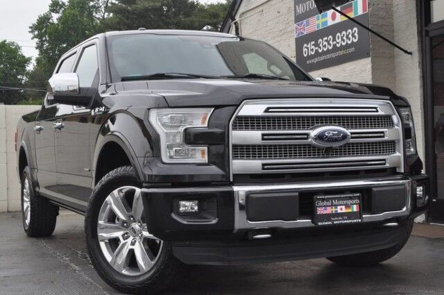 2015 Ford F-150 Platinum FX4/Navigation/Blind Spot Info System/Heated & Cooled Leather Seats/Adaptive Cruise/Active Park Assist/Twin Panel Moonroof/70000# GVWR Pkg w/ Tow Pkg Nashville TN