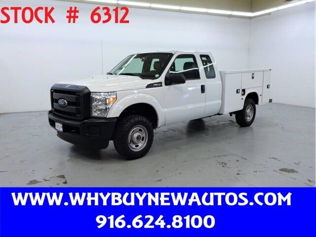 2015 Ford F350 Utility ~ 4x4 ~ Extended Cab ~ Only 73K Only Miles! Rocklin CA