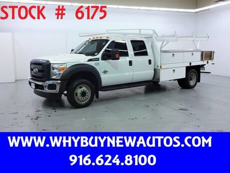 2015 Ford F450 ~ 12ft. Contractor Bed ~ Diesel ~ Crew Cab ~ Only 39K Miles! Rocklin CA