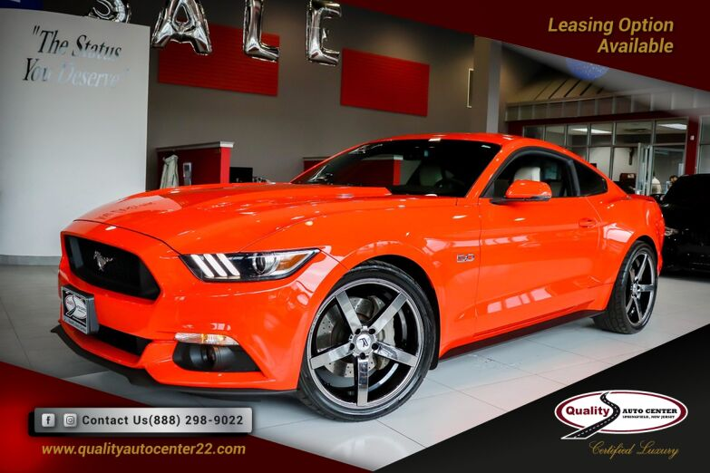 2015 Ford Mustang GT 20'' Black Wheels Competition Orange Springfield NJ