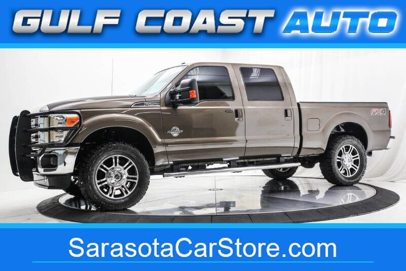 2015_Ford_SUPER DUTY F-250_LARIAT SUNROOF TURBO DIESEL 4x4 CREW CAB LEATHER LOADED_ Sarasota FL