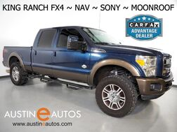 2015_Ford_Super Duty F-250 SRW 4WD King Ranch_*FX4 PKG, NAVIGATION, BACKUP-CAMERA, MOONROOF, TOUCH SCREEN, CLIMATE SEATS, SONY AUDIO, AUXILIARY FUEL TANK, 20 INCH WHEELS, BLUETOOTH_ Round Rock TX
