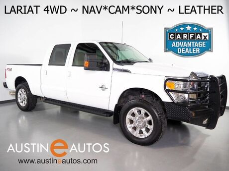 2015 Ford Super Duty F-250 SRW 4WD Lariat *FX4 OFF ROAD PKG, NAVIGATION, BACKUP-CAMERA, TOUCH SCREEN, LEATHER, CLIMATE SEATS, SONY AUDIO, REMOTE START, 20 INCH WHEELS, BLUETOOTH Round Rock TX