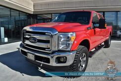 2015_Ford_Super Duty F-350_Lariat / 4X4 / Crew Cab / Auto Start / Heated & Cooled Leather Seats / Heated Rear Seats / Sony Speakers / Navigation / Sunroof / Bluetooth / Back Up Camera / Bed Liner / Tow Pkg_ Anchorage AK