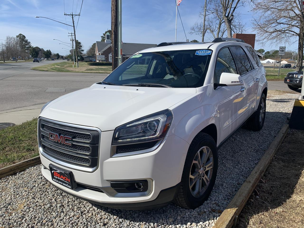 2015 GMC ACADIA SLT AWD , WARRANTY, LEATHER, 3RD ROW, NAV, BOSE SOUND, SUNROOF, BACKUP CAM, HEATED SEATS, GORGEOUS! Norfolk VA