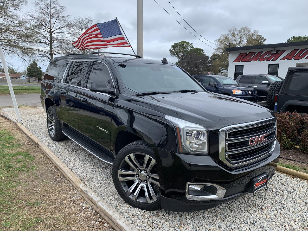 2015 GMC YUKON XL SLT 4X4, WARRANTY, LEATHER, 3RD ROW, HEATED/COOLED SEATS, NAV, BLUEOOTH, FULLY LOADED! Norfolk VA