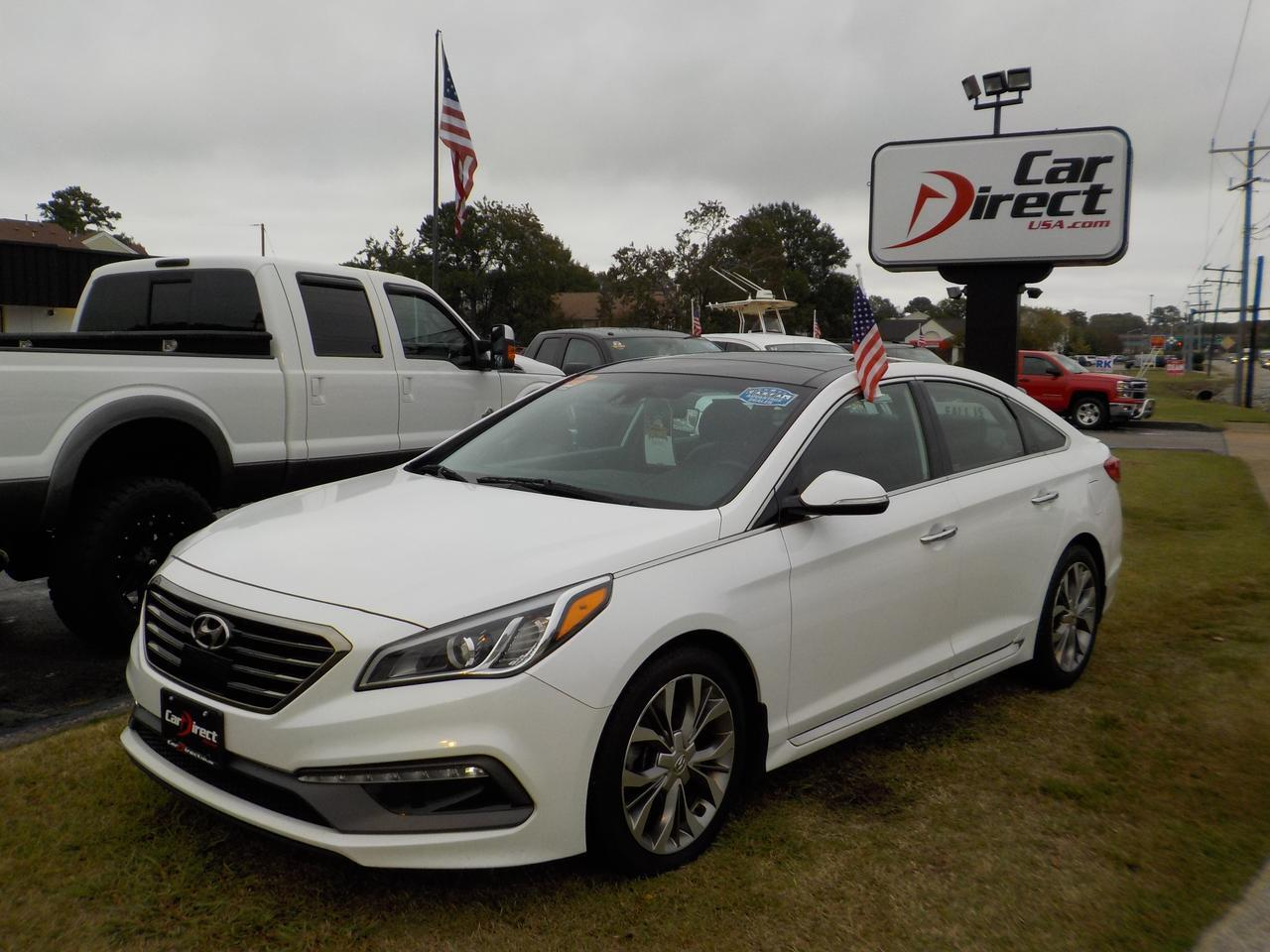 2015 HYUNDAI SONATA 2.0T Limited SPORT PACKAGE, HEATED AND COOLED LEATHER SEATS, NAVIGATION, PANO ROOF, LOADED!!! Virginia Beach VA