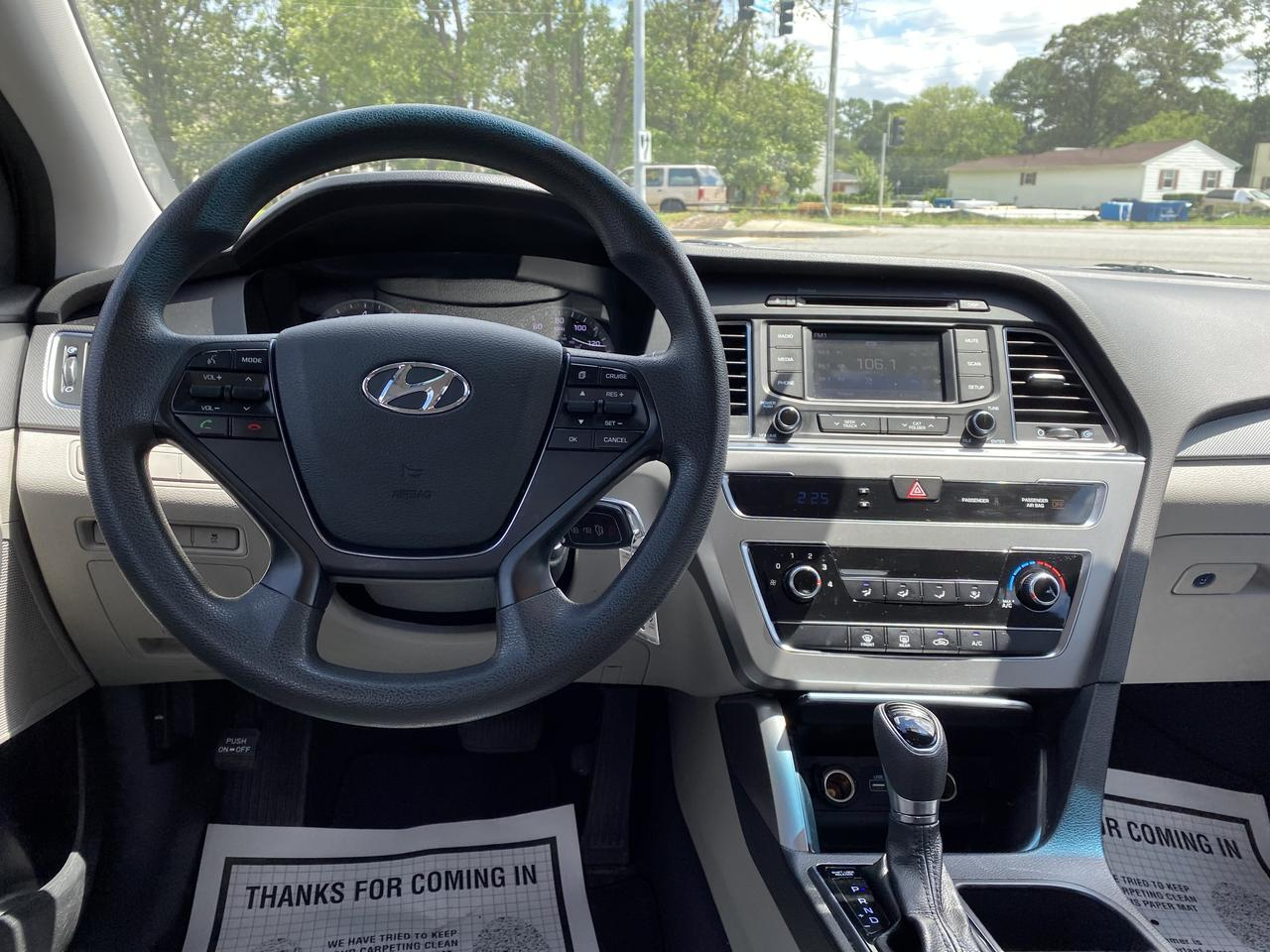 2015 HYUNDAI SONATA SE, WARRANTY, BACKUP CAM, BLUETOOTH, AUX/USB PORT, CRUISE CONTROL, A/C, 1 OWNER! Norfolk VA