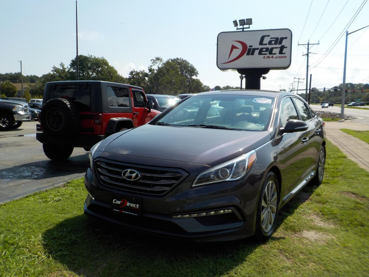 2015 HYUNDAI SONATA SPORT, BACKUP CAM, BLUETOOTH, SIRIUS RADIO, CRUISE CONTROL, A/C, CLEAN CARFAX! Virginia Beach VA