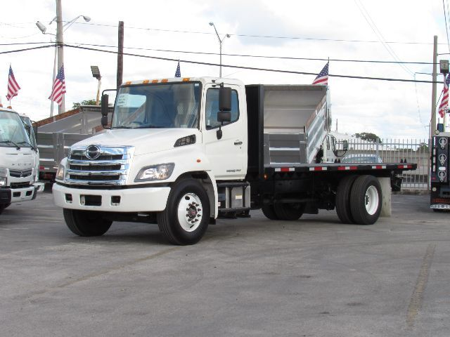 2015 Hino 268A 20' Steel Flatbed with Piggy Back receiver Miami FL