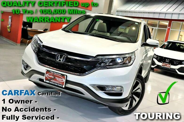 2015 Honda CR-V Touring - CARFAX Certified One Owner - Fully Serviced - All Service Records Springfield NJ