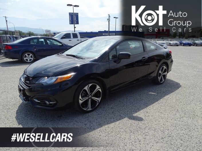 2015 Honda Civic Coupe Si, Manual Transmission, No Accidents! Fuel Efficient, Sunroof Penticton BC