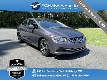 2015_Honda_Civic_SE ** Certified 6 Month / 6,000 **_ Salisbury MD