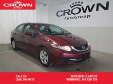 2015_Honda_Civic Sedan_4dr LX/ heated seats/ remote start/ back up cam_ Winnipeg MB