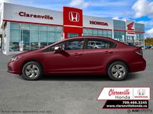 2015_Honda_Civic Sedan_LX - AT  - Bluetooth -  Cruise Control - $97 B/W_ Clarenville NL